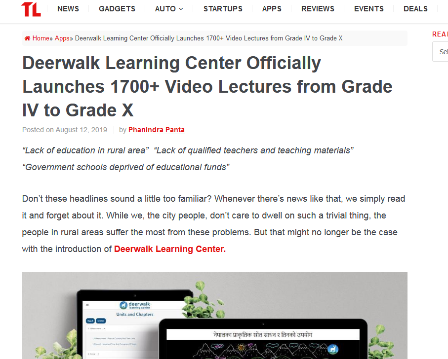 Deerwalk Learning Center- Covered by TechLekh